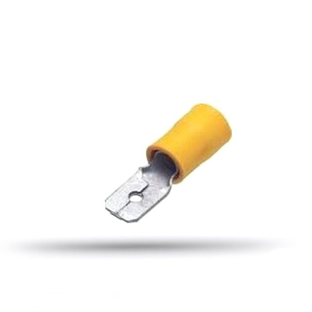 20 insulated flat male cable lugs 4 to 6 mm² thickness 0.8 mm
