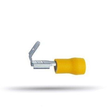 20 cosses isolées mixtes plates jaunes câble 4 à 6 mm² épaisseur 0.8 mm