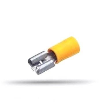 20 flat female insulated cable lugs 4 to 6 mm² thickness 0.8 mm