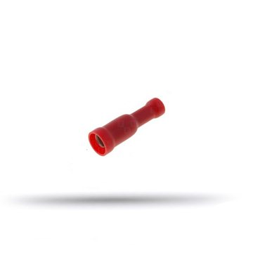 20 cosses isolées femelles rondes rouges 0.5 à 1 mm²