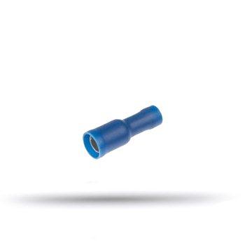 20 cosses isolées femelles rondes bleues 1.5 à 2.5 mm²