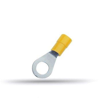 20 cosses isolées à oeil jaunes 4 à 6 mm²
