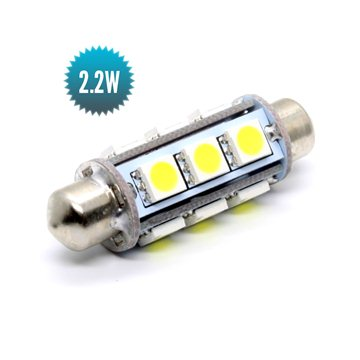Shuttle Bulb 8-30Vdc 2,2W (10W) 6000K 42mm 155lm 12 SMD