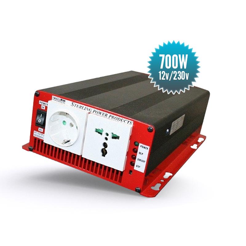 Convertisseur 12 V / 230V 50Hz pur sinus 700 watts