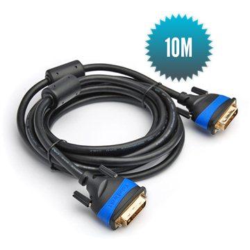 Câble DVI - DVI 10m Câble 24+1 grande vitesse (1080p Full HD 3D)