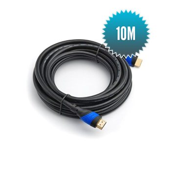 Câble HDMI - HDMI 10m Câble 24+1 grande vitesse (1080p Full HD 3D)