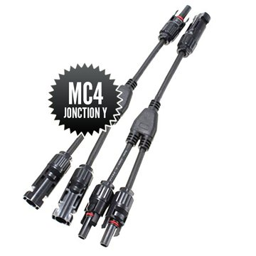 MC4 Y-junction connectors (1M-2F + 2M-1F)