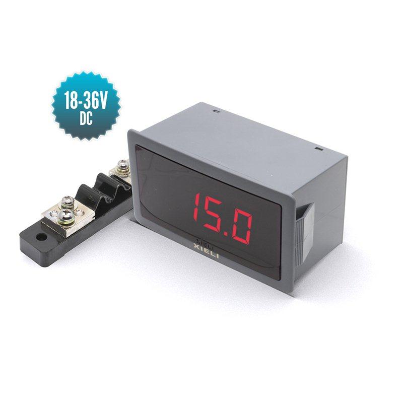 Ampèremètre numérique professionnel -50 à +50A
