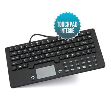 Mini clavier filaire USB étanche avec Touchpad