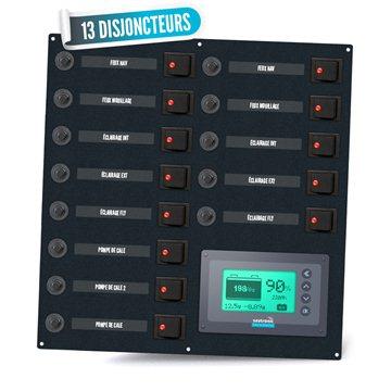 Tableau électrique bipolaire 13 disjoncteurs avec gestionnaire de batterie