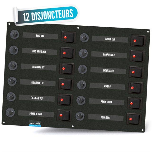 Tableau électrique bipolaire 12 disjoncteurs