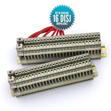 Kit de câblage à assembler pour tableau unipolaire 16 disjoncteurs