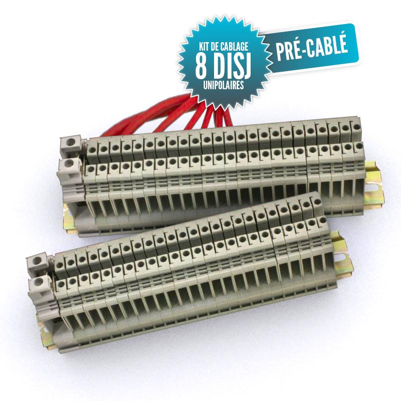 Kit de câblage monté pour tableau unipolaire 8 disjoncteurs