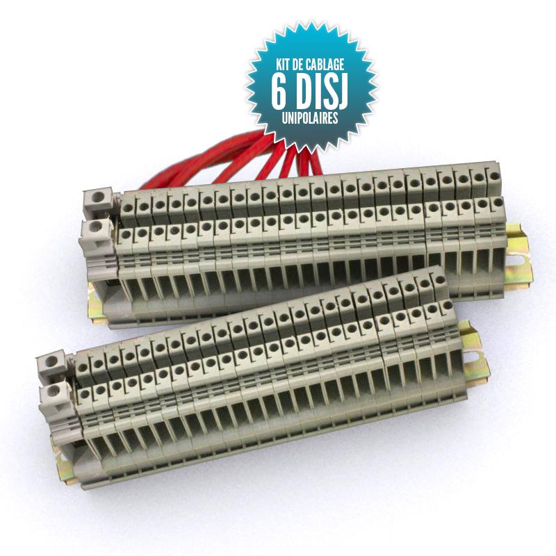 Kit de câblage  pour tableau unipolaire 6 disjoncteurs