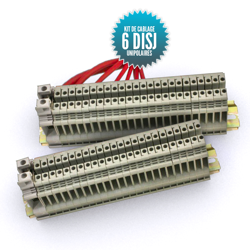 Wiring kit for single-pole switchboard 6 circuit-breakers