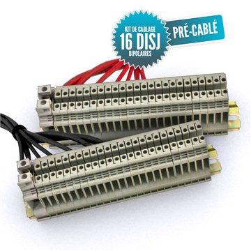 Kit de câblage pré-câblé pour tableau bipolaire 16 disjoncteurs
