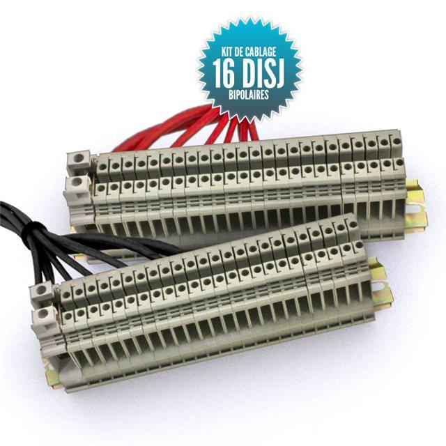 Kit de câblage  pour tableau bipolaire 16 disjoncteurs