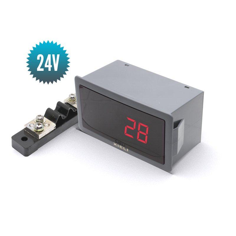 Digital voltmeter for direct current 24V