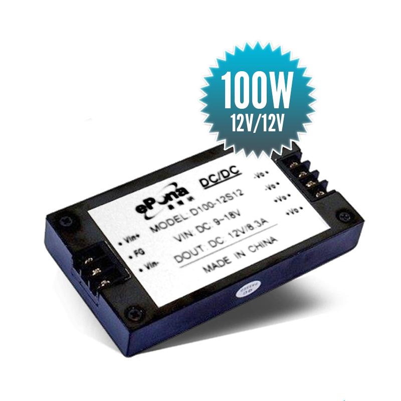 Stabilisateur de tension isolé 12V / 12V - 100W