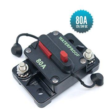 Disjoncteur de puissance unipolaire 80A 12/24VDC