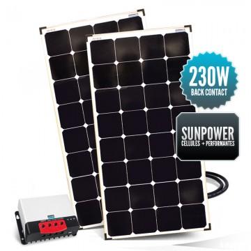 Kit de portique 230 watts (2 x 115W) back contact MPPT