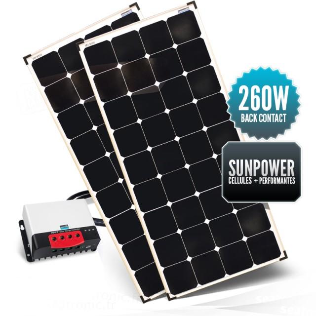 Kit de portique 260 watts (2 x 130W) back contact MPPT