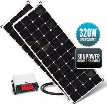 Kit de portique 320 watts (2 x 160W) back contact MPPT