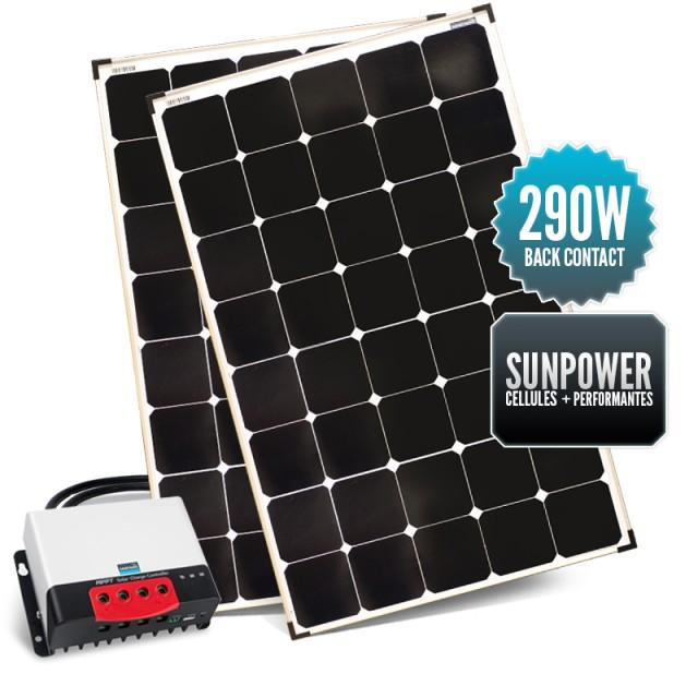 Kit de portique 290 watts (2 x 145W) back contact MPPT