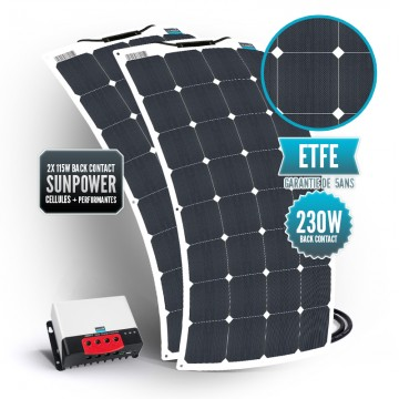 Kit solaire bimini 230 watts (2 x 115 watts) back contact MPPT