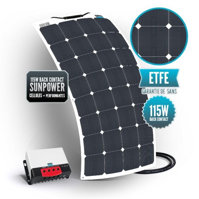 Bimini solar kit 115 watts (single) back contact MPPT