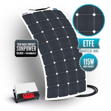 Kit solaire bimini 115 watts (unique) back contact MPPT