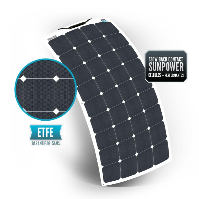SUNPOWER 130W ETFE Flexible Panel