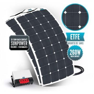 Kit solaire bimini 260 watts (2x 130w) back contact MPPT