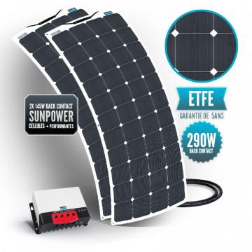 Bimini solar kit 290 watts (2 x 145 watts) back contact MPPT