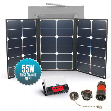Nomadic panel SUNPOWER 55W with MPPT controller