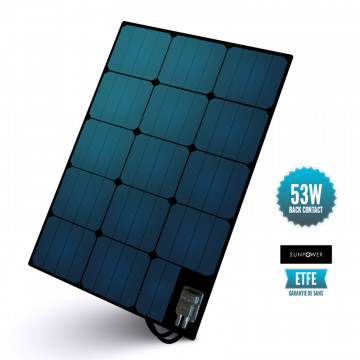 Semi-flexible deck panel ETFE Sunpower 53 W