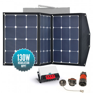 Nomadic panel SUNPOWER 130W with MPPT controller