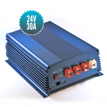 Battery charger 24V / 30A 3 outputs