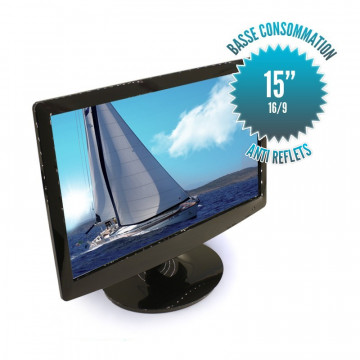 "15"" inch LED screen -12 Volts - Format 16/9"
