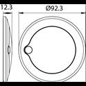 Plafonnier à leds extra fin en saillie avec bouton tactile
