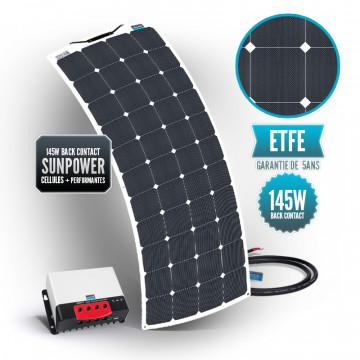 Kit solaire bimini 145 watts (unique) back contact MPPT