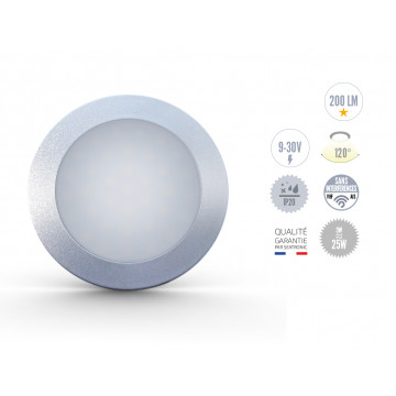 Spots Argent à LED 3W sans interrupteur