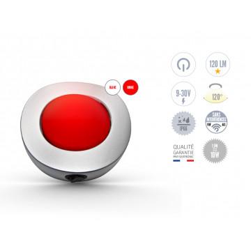 Plafonnier LED en saillie blanc et rouge