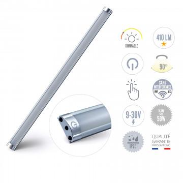 Réglette à LED 5W avec interrupteur et variateur, sortie côté des câbles