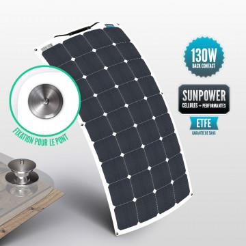 Panneau Sunpower flexible ETFE 130 W avec la fixation Tenax pour le pont