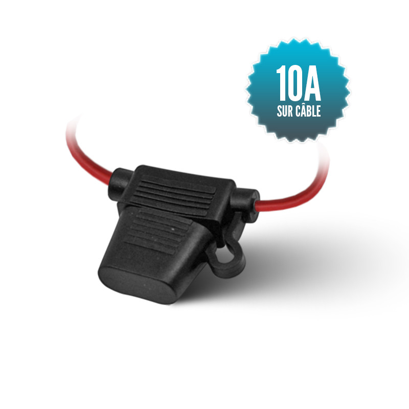 Porte fusible intégré sur câble AWG18