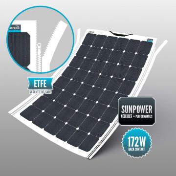 Panneau souple Sunpower 172 W ETFE fermeture à glissière YKK intégrée