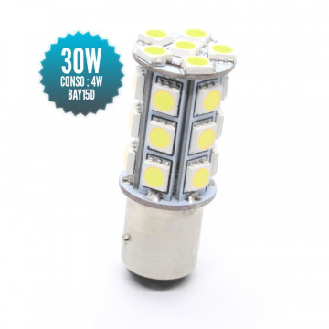 Ampoule Axiale 360°BAY15D - 24 SMD - BF