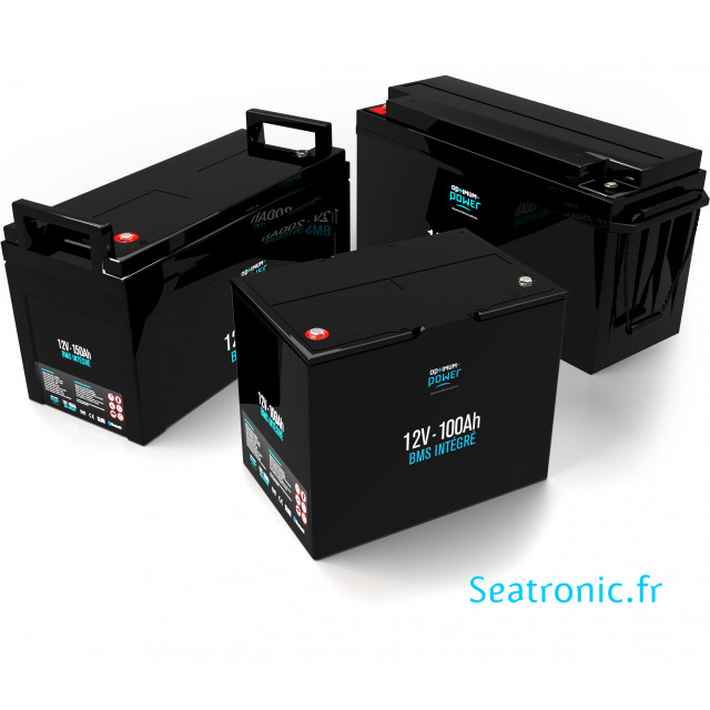 Batteries lithium 12 Volts optimum power avec BMS intégré